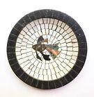 Vintage Danish Art Deco Marble Stone Mosaic Bowl w Fish, Likely Atelier Bojstrup
