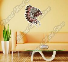 "Indian Chief Head Dress Apache Native Wall Sticker Room Interior Decor 22""X22"""