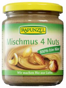 (2,80 EUR/100 g) Rapunzel Mischmus 4 Nuts vegan bio 250 g