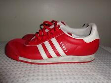 mens ADIDAS Samoa Red & White sneakers shoes size 11