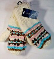 Mittens Sonoma  Girls Lined  Ivory knit  Small New