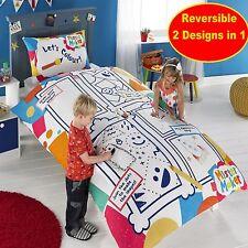 Mister Maker color and play set de funda nórdica para cama individual (6 Lavable