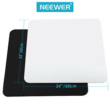 "Neewer 24x24"" Acrylic White Black Reflective Display Table Background Boards"