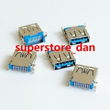 5X USB 3.0 Female Type-A 9 Pin SMT SMD Panel Mount DIP USB Connector 90° Legs B