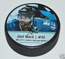 JOEL WARD San Jose Sharks PLAYER STAR PUCK NEW #42 Souvenir In Glas Co.