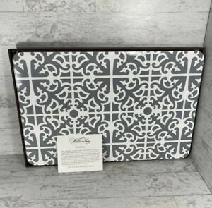 Williamsburg Grey Scroll Formal Set of 4 Cork Backed Placemats PARTERRE