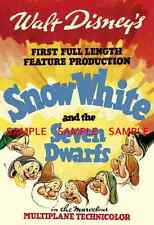 "Snow White & the Seven Dwarfs  11"" x 17"") Movie Collector's Poster Print - B2G1F"