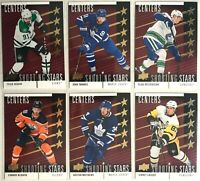 2019-20 Upper Deck Red Shooting Stars Centers Complete Set 1-10 Mcdavid Crosby