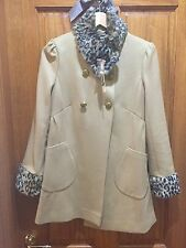 Leopard trench coat, Size small