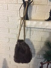 Antique Handmade Real Fur Hunting Sports Hunter Supplies Carrying Bag