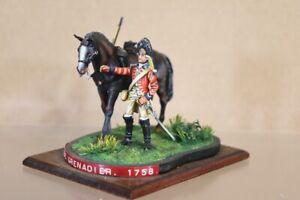 HISTOREX BRITISH HORSE GRENADIER SOLDIER DIORAMA 1758 MUSEUM QUALITY nv
