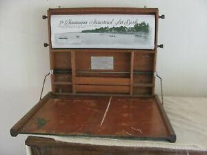 Antique Vintage Chautauqua Industrial Art Desk Lewis E. Myers and Company