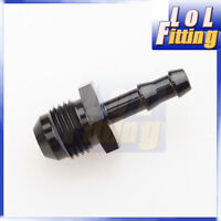AN-6 AN6 to 10mm Push Barb Hose Straight Fitting Adapter Fuel Line Aluminum