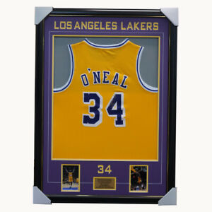 Shaquille O'Neal Signed Los Angeles Lakers NBA Jersey Framed - NBA Champion