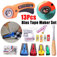 4/5/12/13Pcs Bias Tape Maker Kit Sewing Quilting Awl Pin Binder Foot Tools