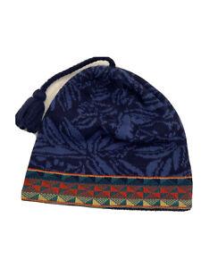 Vintage 90s Patagonia Beanie Cap Hat Made In France Worn Wear Wool Fleece Band