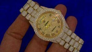 Diamond Face Rolex Gold Watch Day Date President 2400 diamonds Honeycomb Setting