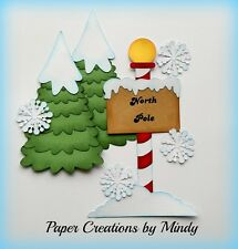 CRAFTECAFE MINDY NORTH POLE CHRISTMAS SANTA  premade paper piecing for scrapbook