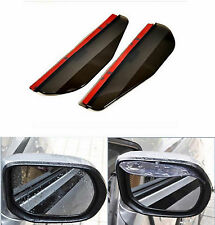 2 Pcs Black Rear Mirror Rain Board Eyebrow Visor Shield Water Guard For Toyota