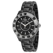 Dior VIII Automatic Diamond Black Ceramic Ladies Watch CD1245E1C001