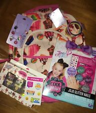 Claire's Candy Donut Backpack Bag Jewelry Justice Sticker Jojo Siwa Nail Lot
