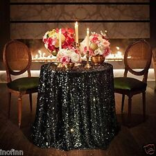 Special offer Black Sequin Tablecloth 90'' Round for Wedding/Dessert Table