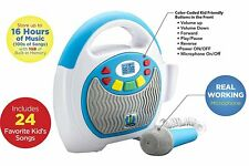 Mother Goose Club Bluetooth Sing Along Portable Mp3 Player Real Mic 24 Songs.