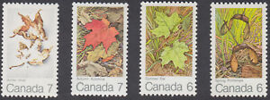 Canada - #535-538 Maple Leaves In Four Seasons - Set of Four - MNH