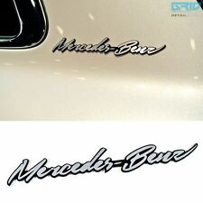 Griben Car Name Cursive Emblem Silver Badge 30059 for Mercedes-Benz & AMG