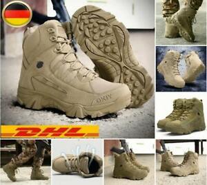 Militärschuhe Soldatenschuhe Wanderschuhe Wandern höhe Stiefel Freien EU 39-46