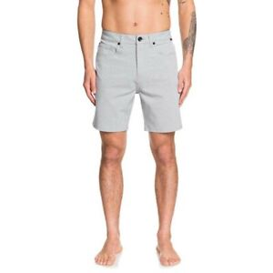 "Quiksilver - Nelson Oxford Amphibian 18 Walk Shorts - Sleet - Size 30"""