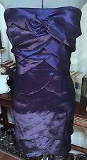 Blue Purple Strapless Gown Dress