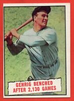 1961 Topps #405 Lou Gehrig EX/EX+ WRINKLE New York Yankees FREE SHIPPING