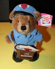 "Vintage Dakin Valentine's Day Love Messenger Teddy Bear Postman 7"" Blank Cards"