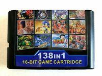 Super 138 in 1 Game Cartridge Multicart for Sega Genesis - US Seller