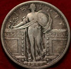 1917-S Type I San Francisco Mint Silver Standing Liberty Quarter
