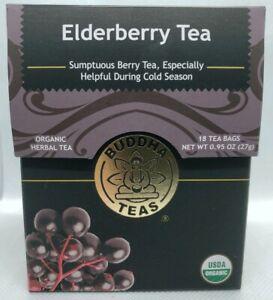 Buddha Teas Certified Organic Elderberry Tea 18 Tea Bags