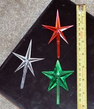 "Star 4"" Plastic Christmas Tree Ceramic NIP Replacement For Ceramic Tree Choose 1"