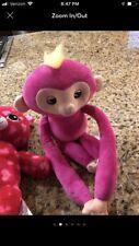 WowWee Fingerlings Hugs Bella Pink Monkey Advanced Interactive Plush