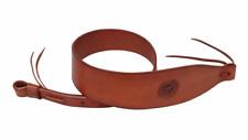 Tan Leather Rifle Sling Vintage Shoulder Strap Adjustable Hunting