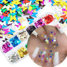 12 Grids DIY Nail Art 3D Butterfly Shape Mixed Flakes Laser Glitter Sequin Decor