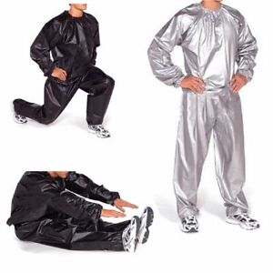 Men Women Heavy Duty Sauna Sweat Suit Gym Exercise Fitness Weight Loss Sweat Set