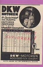CHEMNITZ, Werbung 1936, DKW Motoren Landwirtschaft Industrie