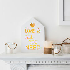 'Love Is All You Need' Battery Operated Warm White LED Light Up Sign Decoration