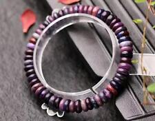Natural Purple Sugilite South Africa Gems faceted Beads Bracelet AAA 7.5mm