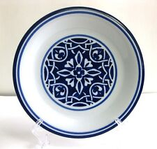 PRE-OWNED CATALINA MEDALLION BLUE BY HOME SALAD PLATE 8 7/8 INCHES