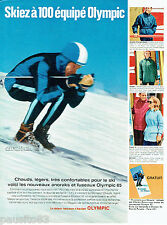 PUBLICITE ADVERTISING 115  1964  les vetements de ski  anorak fuseau OLYMPIC