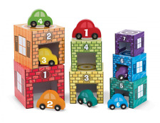 Melissa & Doug Nesting and Sorting Garages and Cars With 7 Graduated Garages and