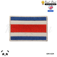 COSTA RICA National Flag Embroidered Iron On Sew On PatchBadge For Clothes