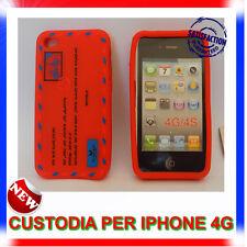 Custodia + Pellicola silicone AIRMAIL ROSSA per IPHONE 4G